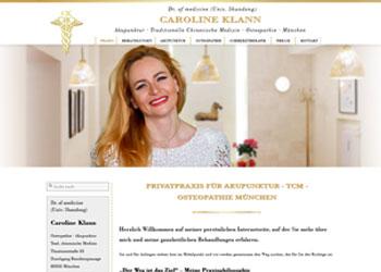 Doctor of medicine Caroline Klann - Beste Heilerfolge mit der Kombination aus Chinesischer Medizin und Osteopathie